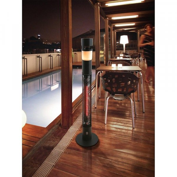Outdoor Patio Heater With Bluetooth Speaker And Light